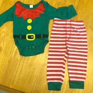 Other - Infant 2 Piece Christmas Elf Costume, 6-9 months